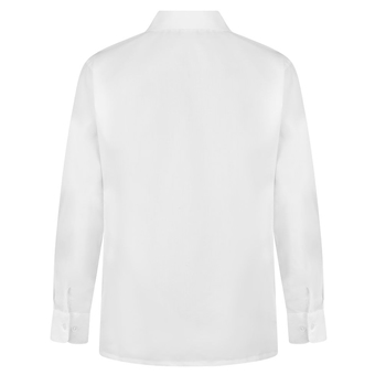Zeco Girls Long Sleeve Easy Iron Lace Collar School Uniform Wear White Blouse